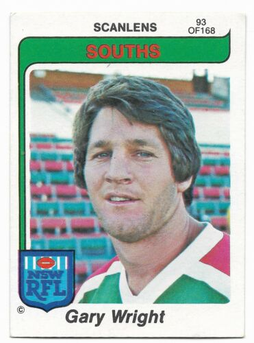 93 Gary WRIGHT Souths 1980 NSW RFL Scanlens Near Mint