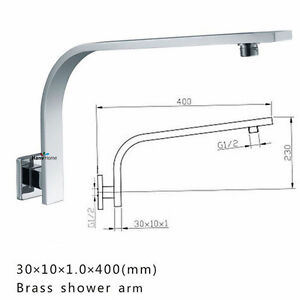 Image Is Loading Gooseneck Square Wall Mounted Shower Arm Shower Head