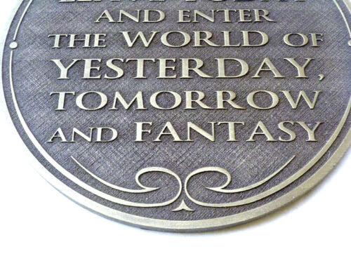 Walt Disney World Magic Kingdom Entranceway Plaque new Florida..
