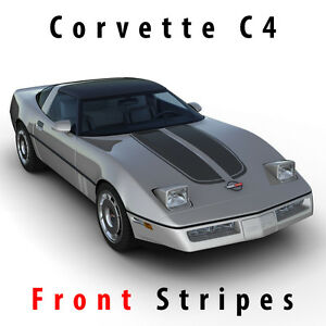 Details about Chevrolet Corvette C4 1984-1996 sport front hood racing  stripes pre-cut decal