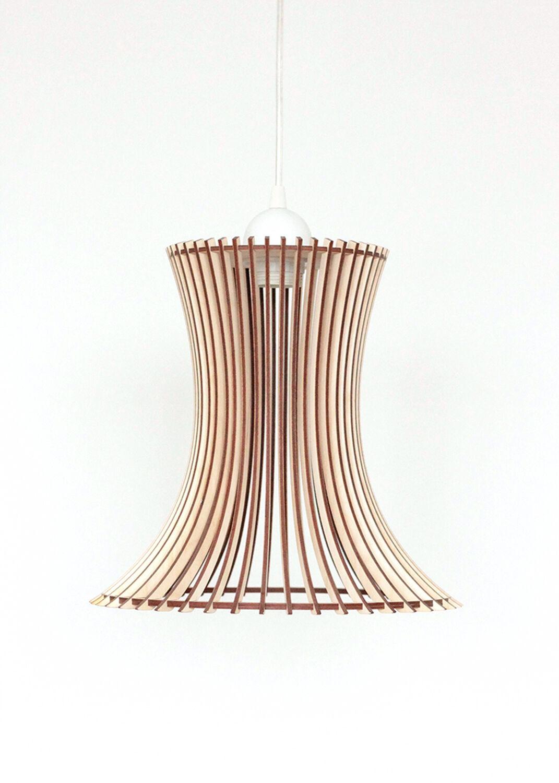 Bois Lampe/en bois abat-jour/suspension Pendentif/Lampe Lampe/Lumière Pendentif/Lampe abat-jour/suspension de plafond a5df15