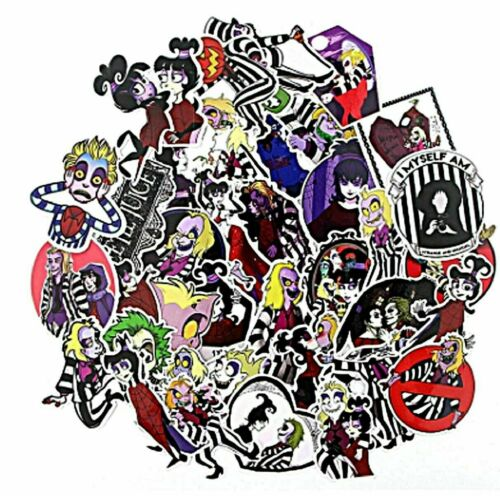Beetlejuice Horror Movie Themed Lot of 38 Assorted Sticker Decals