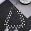 Black Crystal Choker Necklace Fashion Torques Bijoux Simple Cross Strand Beaded
