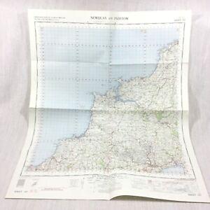 1962 Vintage Militare Mappa Di Padstow Newquay St Austell Bodmin Wadebridge
