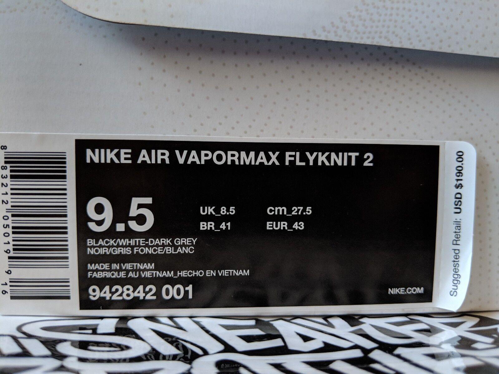 nike air vapormax flyknit 2 silber schwarz - weiß - silber 2 942842-001 dunkelgrauen laufen d2d70a