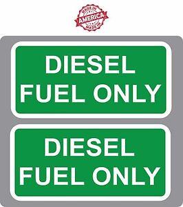 "Diesel Fuel Only Green-White John Deere MF Kubota 2.5/""-5.25/"" Decal Sticker p5"