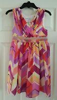 Girls Bonnie Jean Print Dress Size 8 $45