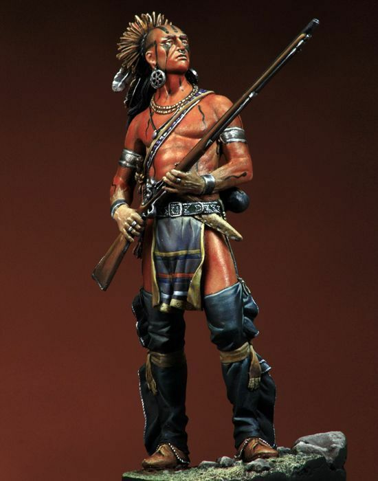 Delaware Warrior of Native Americans 90mm 1 20 Tin Painted Toy Soldier   Museum