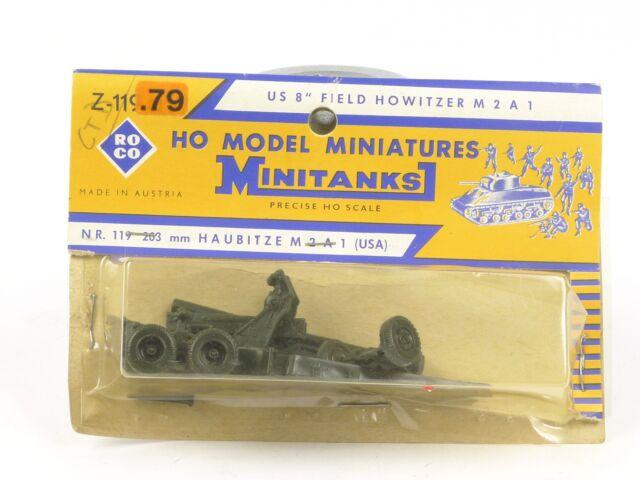 NEW 1//87 WWII US M2 A1 8 203mm Field Howitzer Lot 2430K Roco Minitanks