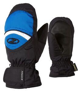 Ziener-Enfants-Ski-Gant-Moufle-Lisbo-GTX-Junior-Noir-Bleu