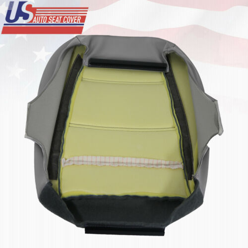 1999 to 2004 Ford Mustang V6 Driver Bottom Replacement Leather Seat Cover Gray