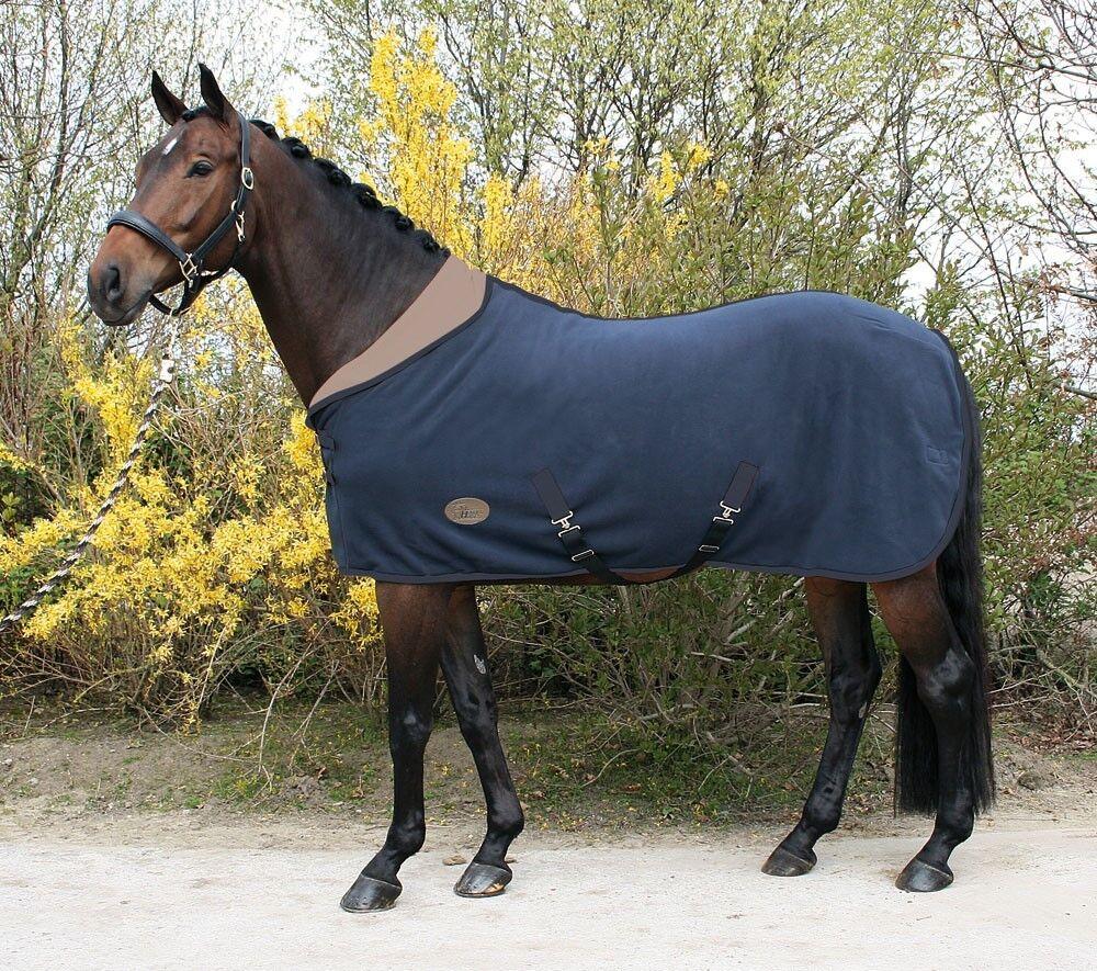 Harrys Horse Teddyfleece rug 12 12 12 neck, navy 59c