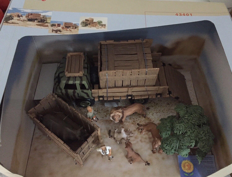 Schleich Wild Life Africa Wild Animals Playset 43401 Lion Rhino Tierbox Truck NEW