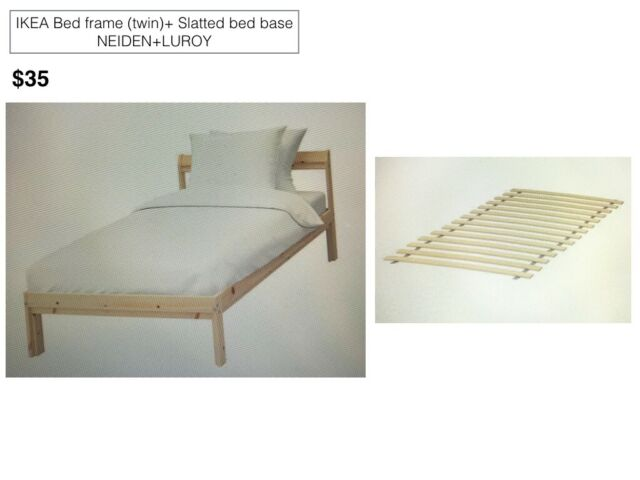 Newly Used Ikea Bed Frame With Slatted Bed Base Twin For Sale Online
