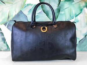 cafdd7b1f83fd  950 Christian Dior Vintage Negro Lona Boston Bolso Fin De Semana ...