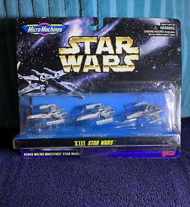 Star-Wars-VTG-NIB-NOS-Micro-Machines-XIII-GALOOB-1997-NIP-Red-Blue-amp-Green