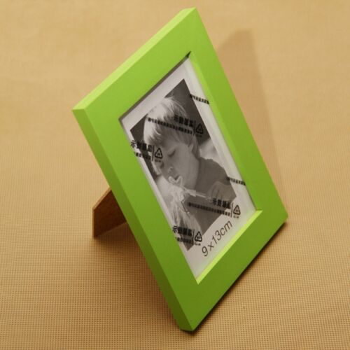 Compact Photo Frame Durable Wooden Picture Holder Suit Offfice Living Room Decor