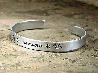 Aluminum Cuff Ring Namaste