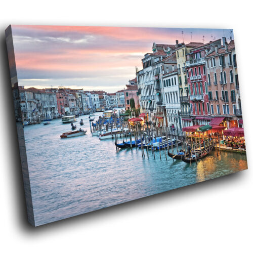 SC560 Venise Sunrise Italie Rétro paysage Toile Wall Art Photos Grand Imprime