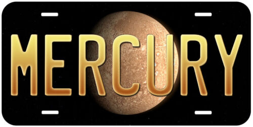 Mercury Planet Any Text Personalized Novelty Car Aluminum License Plate