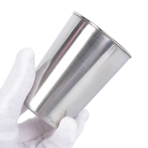4pcs Stainless Steel Cover Mug Camping Cup Drinking Coffee Tea Beer With Cas NIU