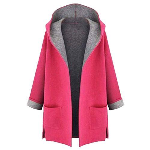 Winter Warm Women Wool Hooded Long Coat Cardigan Trench Jacket Overcoat Outwear