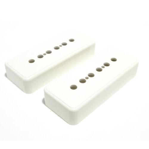 White or Ivory 50mm /& 52mm Pole Spacings P90 Soapbar Guitar Pickup Covers Black