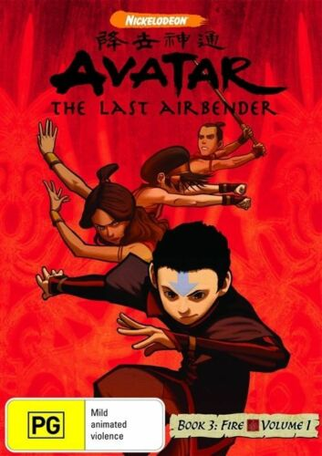 1 of 1 - Avatar - The Last Airbender - Fire : Book 3 : Volume 1 DVD ss Region 4 VGC