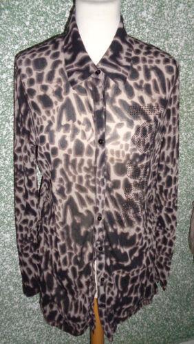 3 Damenbluse Beige Bluse Margittes Muster Gr Braun 20 2 Animalprint 42 Leo Bqpn1