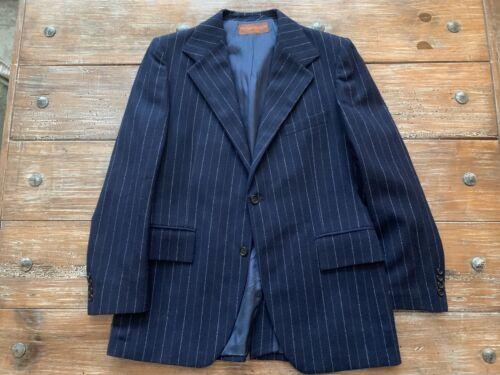 VINTAGE Yves Saint Laurent Navy Pinstripe Suit - image 1