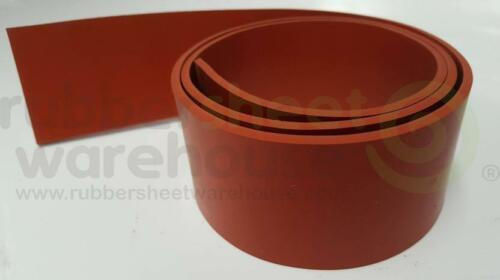 """Silicone Rubber Strip High Temperature 1//4/"""" thick x 8/"""" wide x 10/' FREE SHIPPING"""