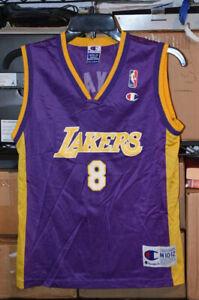 Kobe Bryant #8 LA Lakers Authentic CHAMPION Jersey - YOUTH M 10-12 ...