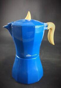 Cafetiere-Italienne-bleue-recente-Vintage-EXCELSA-FOR-AVON-rare