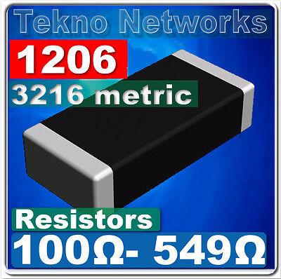 1206 ( 3216  Metric ) SMD / SMT Resistors -100pcs [ Range: 100 - 549 Ohm ]