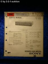 Sony Service Manual TA A200 Amplifier  (#0590)
