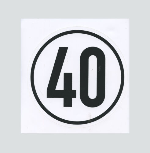 Traktor Anhänger Geschwindigkeit Schild 40 km//h Begrenzungsschild