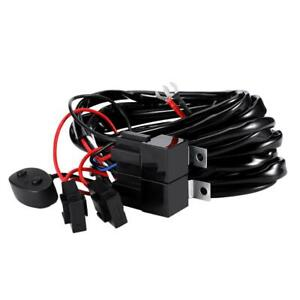 Remote-Control-Wiring-Harness-Strobe-Switch-Relay-LED-Fog-Light-Bar-Kit-12V-40A
