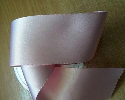 Berisfords Double face ruban de satin rose pâle 400 différentes largeurs plus défets