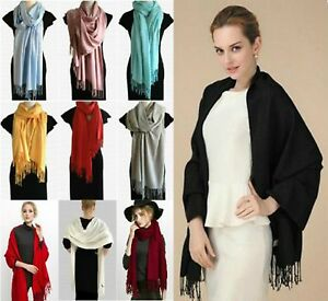 Elegant-amp-Luxurious-Soft-CASHMERE-Blend-Pashmina-Shawl-Scarf-Evening-Day-Wear