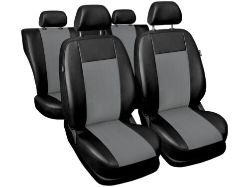 full set black//grey leatherette Car seat covers fit Citroen C4