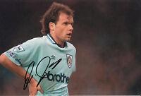 Uwe Rosler Hand Signed Manchester City 12x8 Photo.