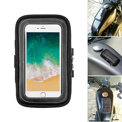 Small Magnetic Motorcycle Tank Bags Black with Cell Phone pocket