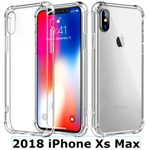 Iphone Xs Max Case Crystal Transparent Clear Shockproof Bumper Soft