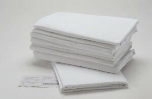 """SPI 6 NEW WHITE HOTEL LINEN TWIN SIZE FLAT SHEETS 66/""""X110/"""" PERCALE CVC T180"""