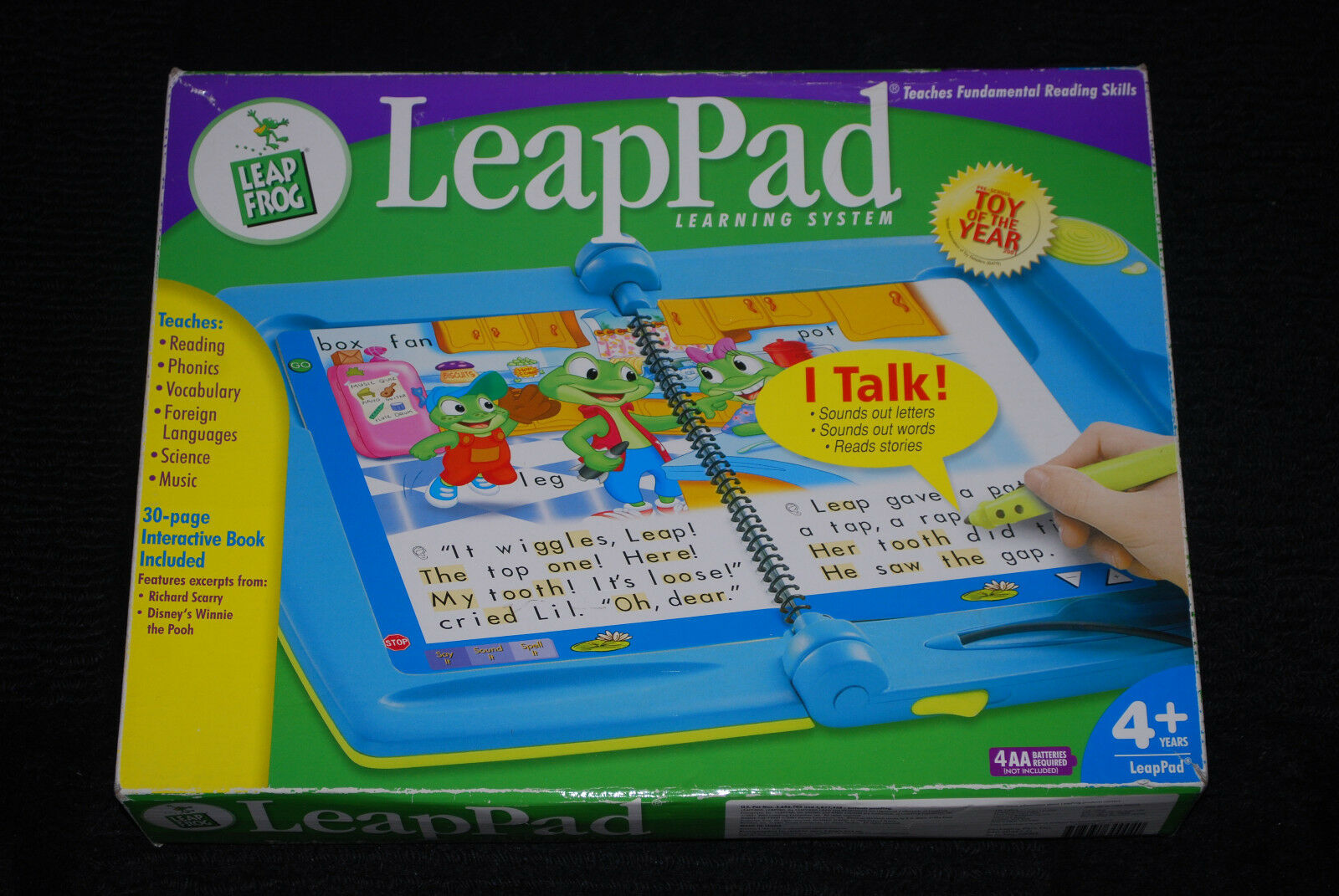 LeapPad Interactive Learning System Rare Leap Frog Finding Nemo Winnie the Pooh