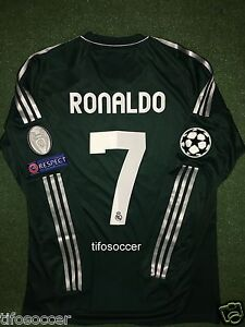 best loved 457b4 760f2 Details about REAL MADRID RONALDO MATCH UNWORN SHIRT CHAMPIONS LEAGUE  2012-2013