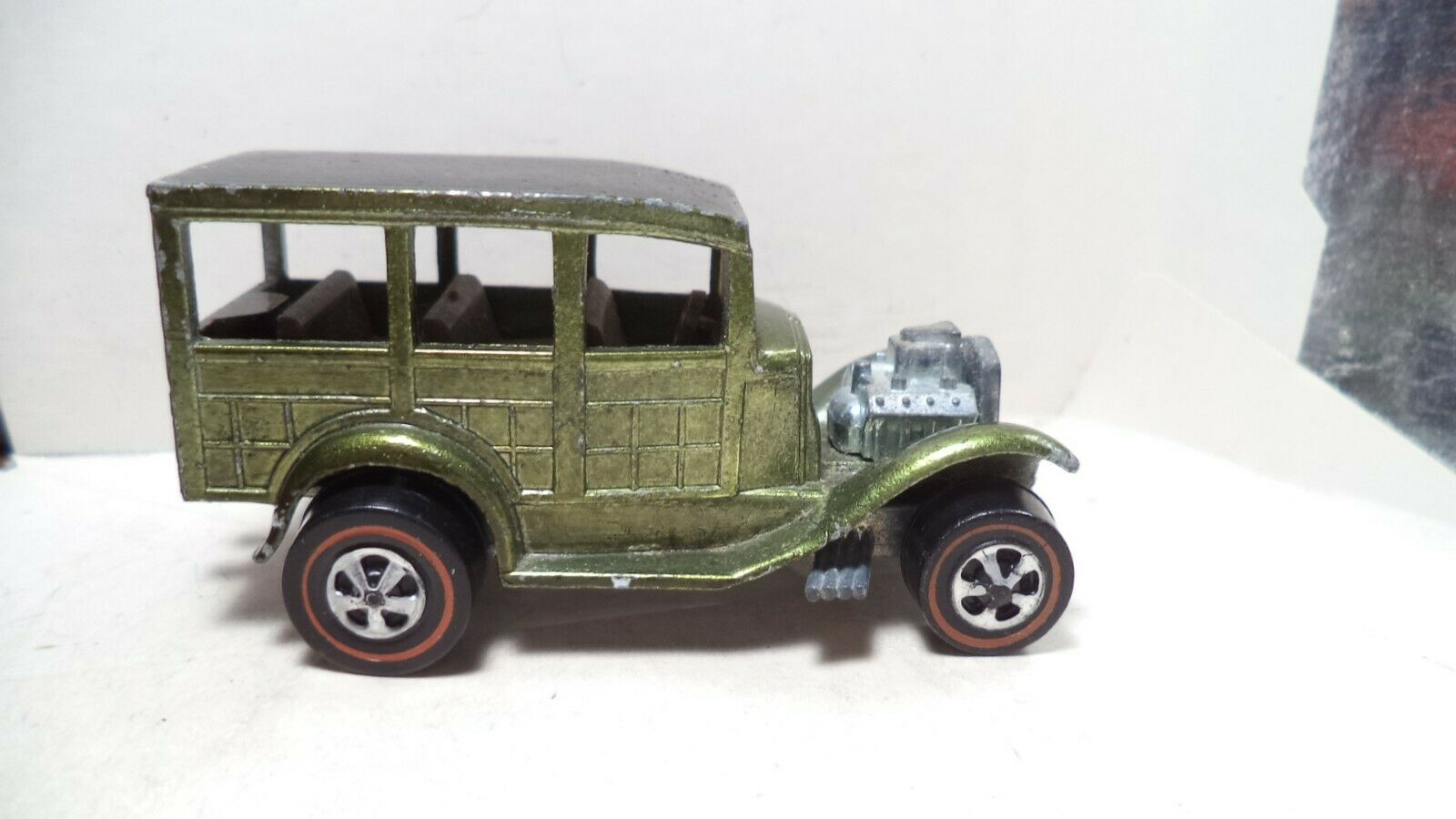 Vintage Hot Wheels rosso líneas USA 1969 Classic'31 Ford Woody [Oliva]