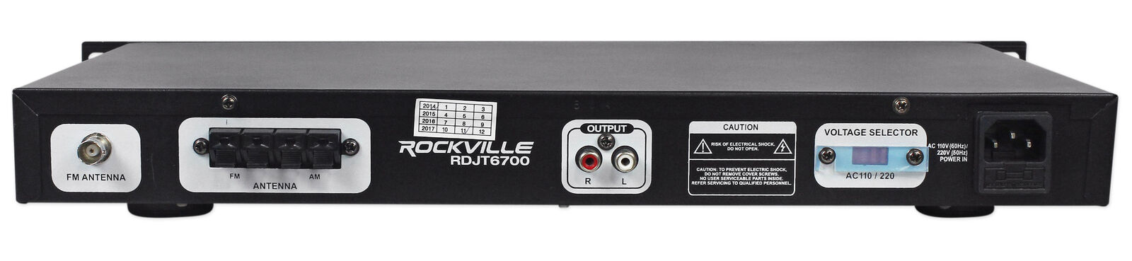 "Rockville RDJT6700 19/""/"" Rack Mount Digital AM//FM Radio Tuner Receiver With USB//S"