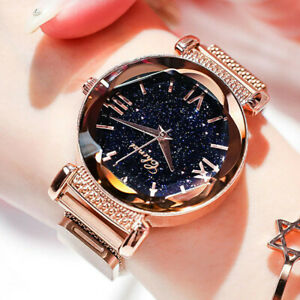 Details About Las Watch Starry Sky Wrist Women Bracelet Watches Magnetic Stainless