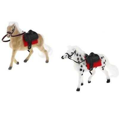 1//12 Realistic Miniature Horse Animal Pets Dollhouse Garden Decor White